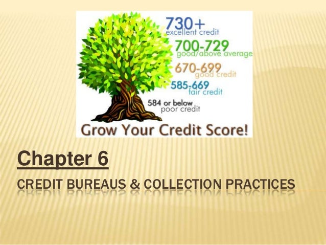 Chapter 6CREDIT BUREAUS & COLLECTION PRACTICES