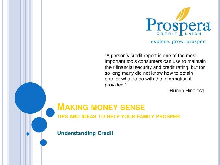 """""""A person's credit report is one of the most important tools consumers can use to maintain their financial security and cr..."""