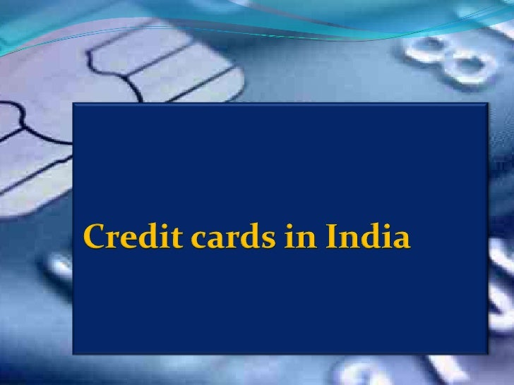 Credit cards in India<br />