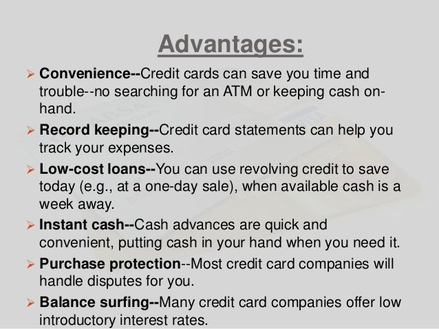 disadvantage of credit card essay