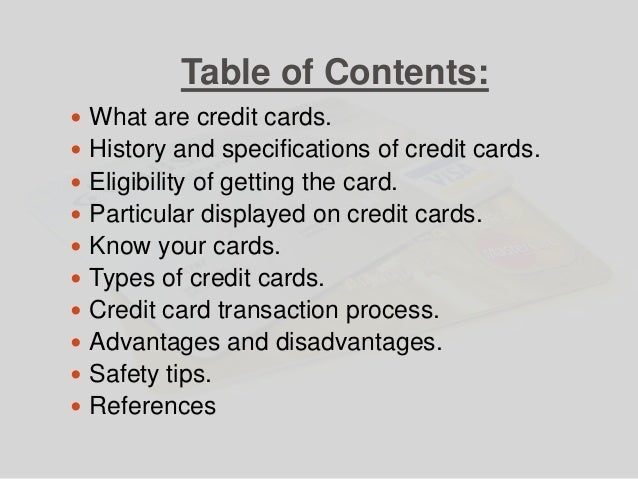 economic essay on credit cards Business research paper sample – oil spills economics  the main vulnerable economic  all online transactions are done using all major credit cards or.