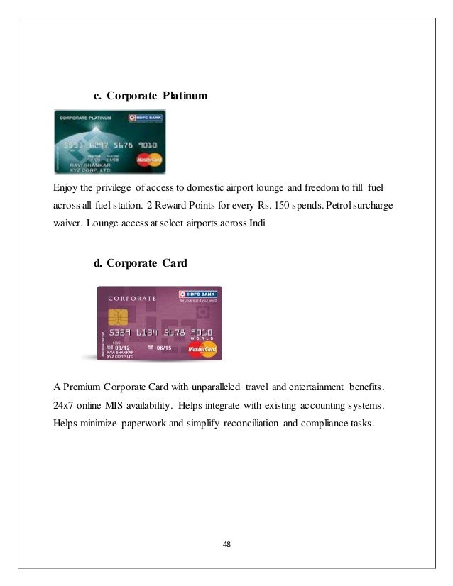Hdfc bank forex card