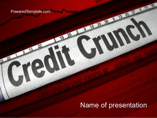 Credit Crunch Headline PowerPoint Template by PoweredTemplate.com