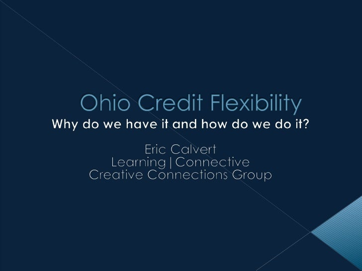 Credit Flexibility - An Overview for Gifted Educators