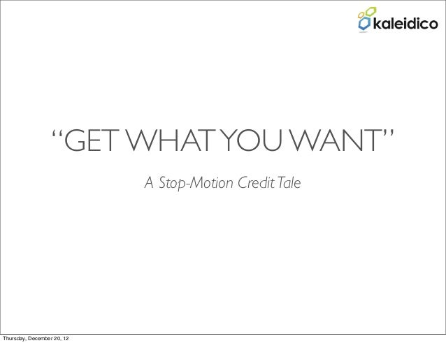 Credit gets you what you want   a stop motion tale