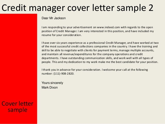 collections manager cover letter for resume