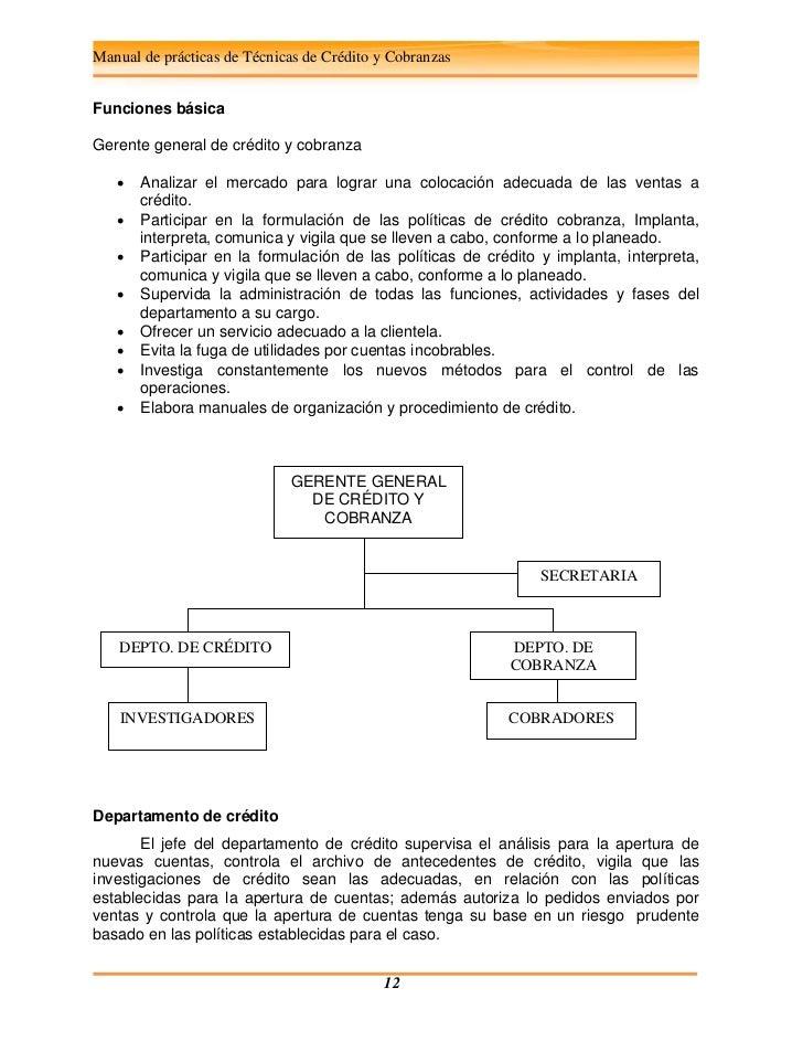 Credito Y Cobranza Funciones Del Departamento - dinero urgente ambato
