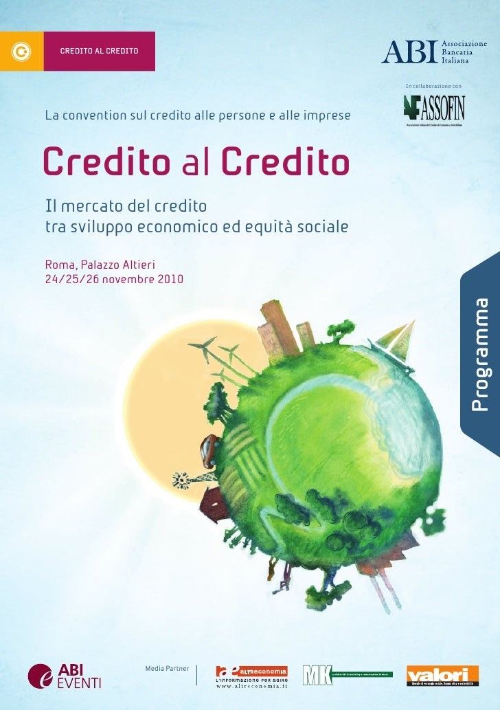Convention Credito al Credito - Agenda 2010