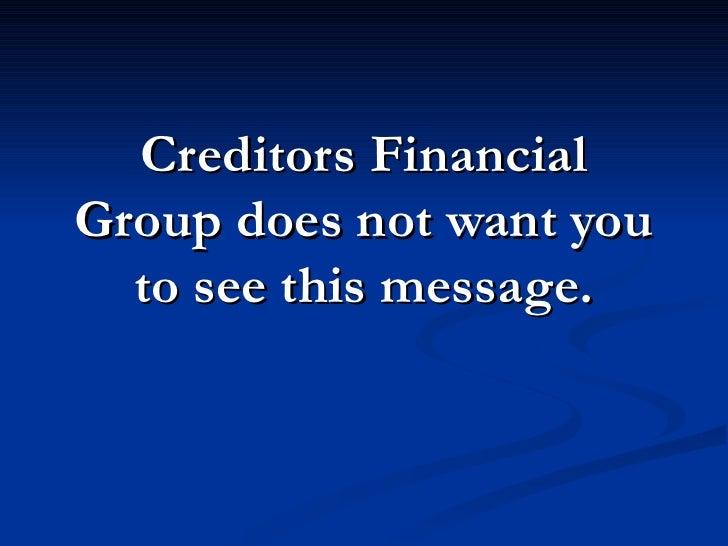 Stop Creditors Financial Group!  Call 877-737-8617.