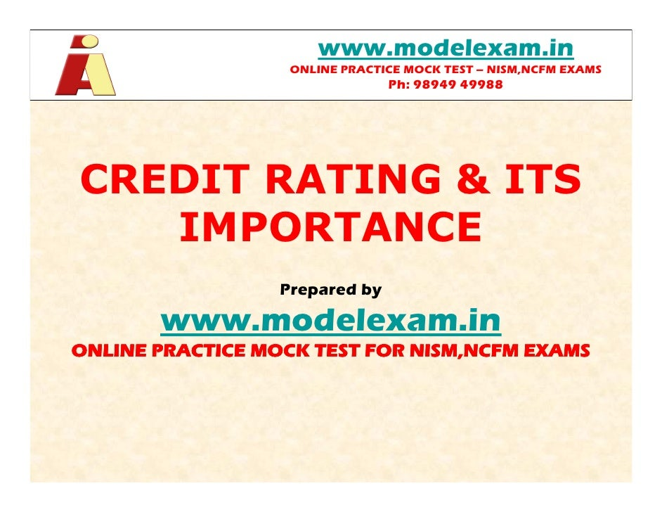 www.modelexam.in                   ONLINE PRACTICE MOCK TEST – NISM,NCFM EXAMS                                Ph: 98949 49...