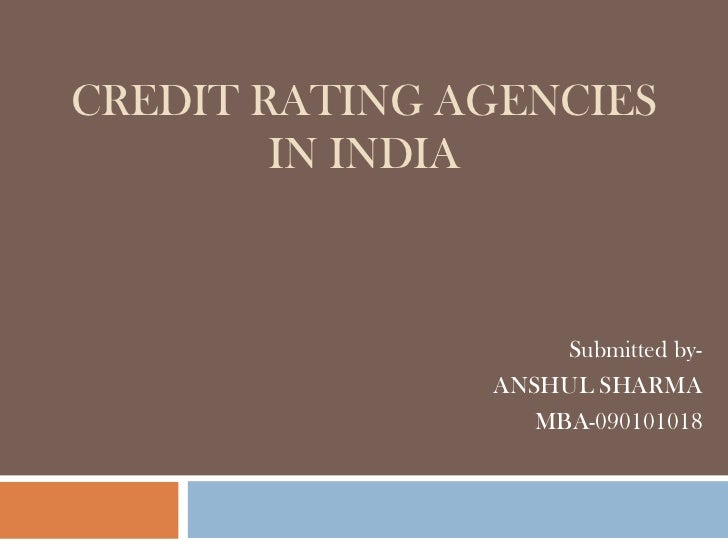 thesis about rating agencies