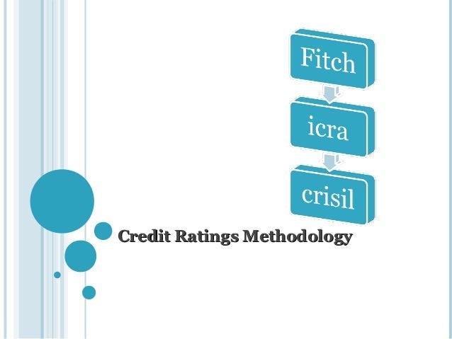 Credit ratings methodology