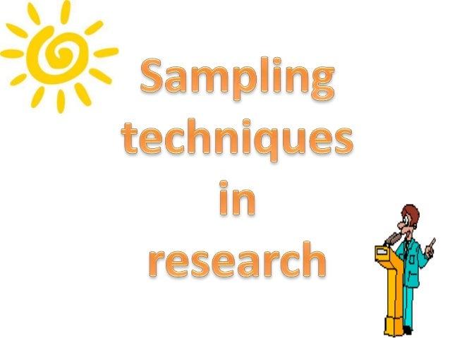 Sampling in research methods