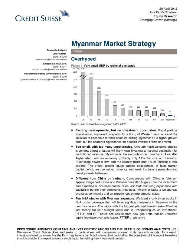 Credit suisse   myanmar market strategy _ 2012 04 20