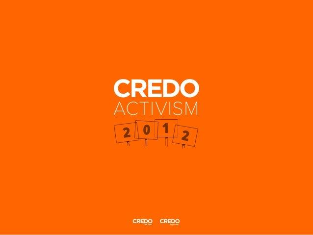 Credo 2012-activism-report