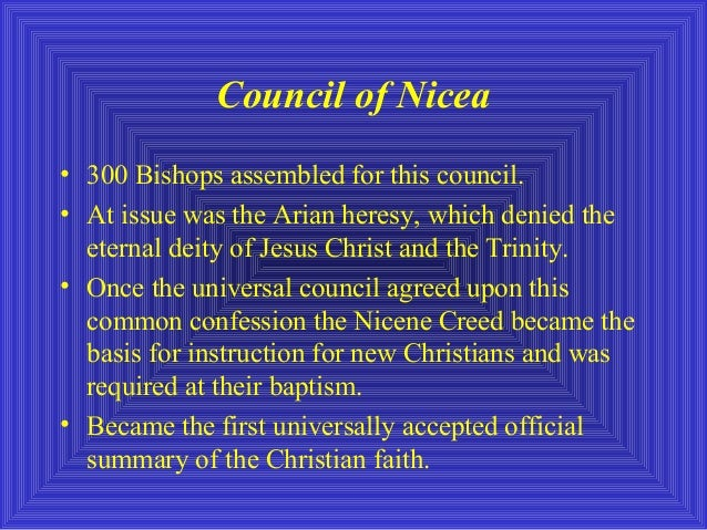 an analysis of the study of christianity in the nicene council The roman emperor constantine the great, while himself not really a christian when it came to the nicene council with a ucgorg account you will be able to save items to read and study later.