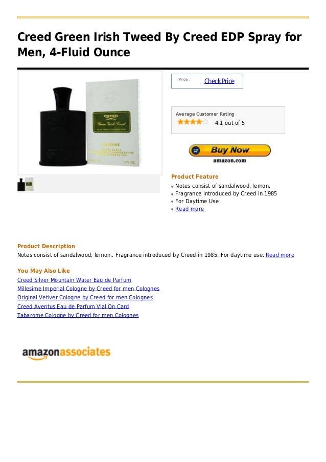 Creed green irish tweed by creed edp spray for men, 4 fluid ounce