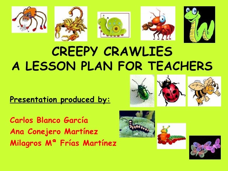 CREEPY CRAWLIES A LESSON PLAN FOR TEACHERS Presentation produced by: Carlos Blanco García Ana Conejero Martínez Milagros M...