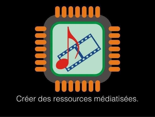 Créer des ressources médiatisées.