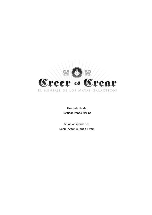 Creer es crear   guion