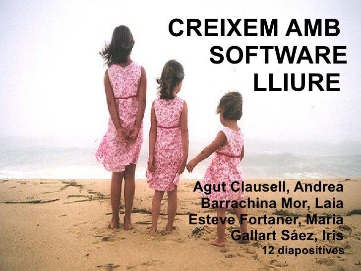 CREIXEM AMB  SOFTWARE LLIURE  Agut Clausell, Andrea  Barrachina Mor, Laia  Esteve Fortaner, Maria  Gallart Sáez, Iris  12 ...