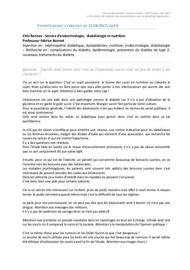 Thèse professionnelle – Sylvaine Carrau – ESCP Europe – Nov 2013« De la baisse de confiance des consommateurs vers un mark...