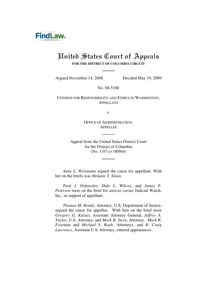 United States Court of Appeals          FOR THE DISTRICT OF COLUMBIA CIRCUIT    Argued November 14, 2008              Deci...