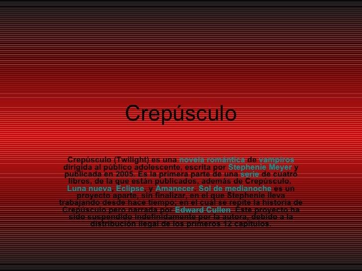 CrepúSculo