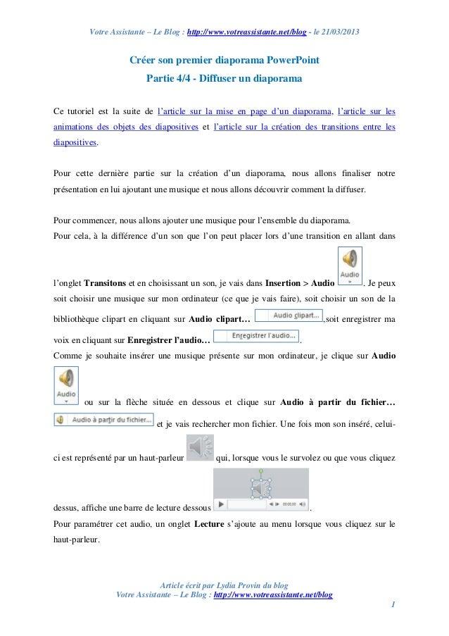 Votre Assistante – Le Blog : http://www.votreassistante.net/blog - le 21/03/2013 Article écrit par Lydia Provin du blog Vo...