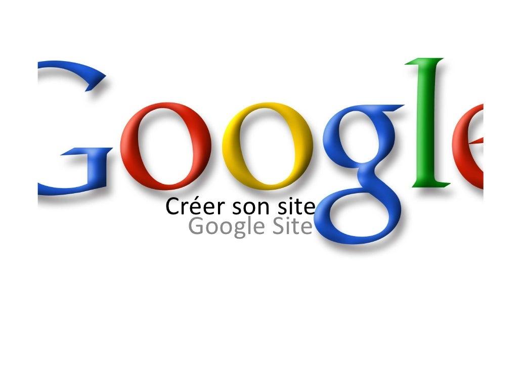 Créer son site   Google Site