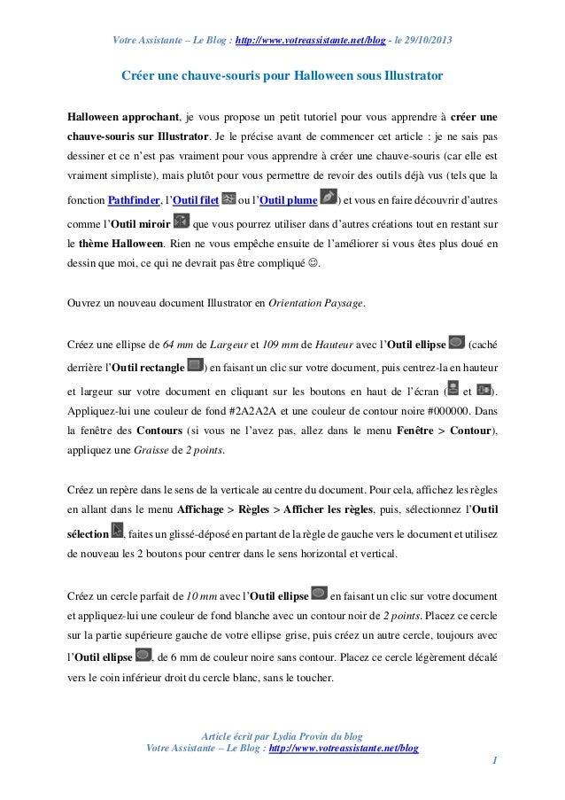Votre Assistante – Le Blog : http://www.votreassistante.net/blog - le 29/10/2013  Créer une chauve-souris pour Halloween s...