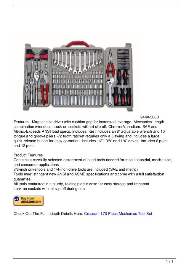2440-5060                                   Features: -Magnetic bit driver with cushion grip for increased leverage.-Mecha...