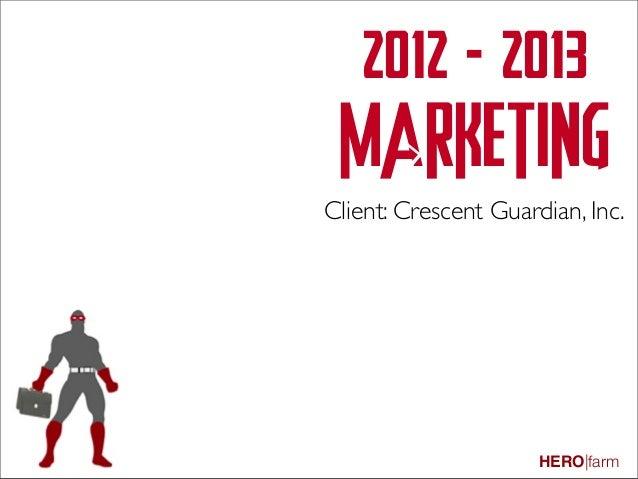 Client Marketing Outreach 2012-13