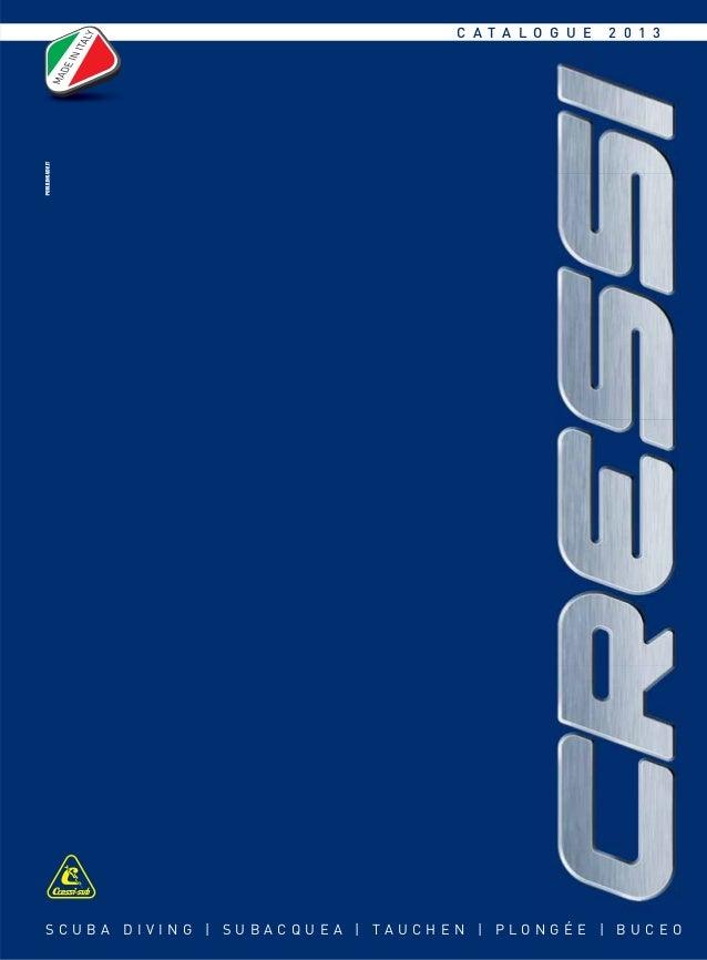 Cressi Scuba Diving Catalogue 2013