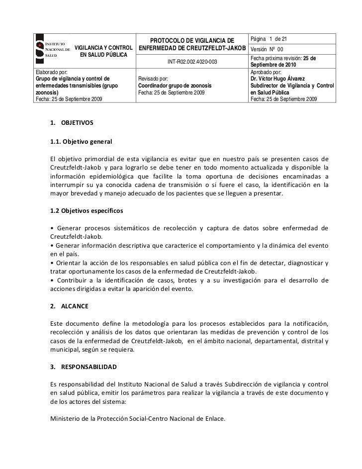 G    INSTITUTO                                          PROTOCOLO DE VIGILANCIA DE   Página 1 de 21    NACIONAL DE   VIGIL...