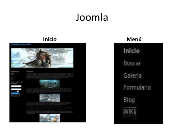 Joomla Inicio  Menú
