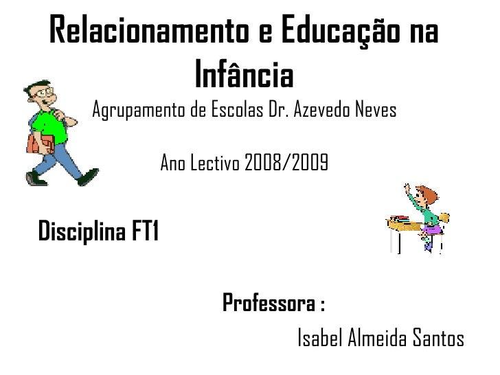 Relacionamento e Educação na Infância Agrupamento de Escolas Dr. Azevedo Neves Ano Lectivo 2008/2009 <ul><li>Disciplina FT...