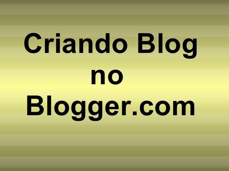 Criando Blog Ste