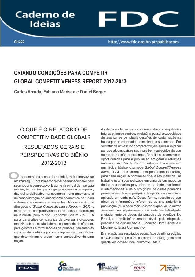 CI1222      Gestão Estratégica do Suprimento e o Impacto no      Desempenho das       Empresas BrasileirasCRIANDO CONDIÇÕE...