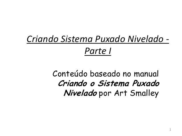 Criando Sistema Puxado Nivelado -              Parte I      Conteúdo baseado no manual       Criando o Sistema Puxado     ...