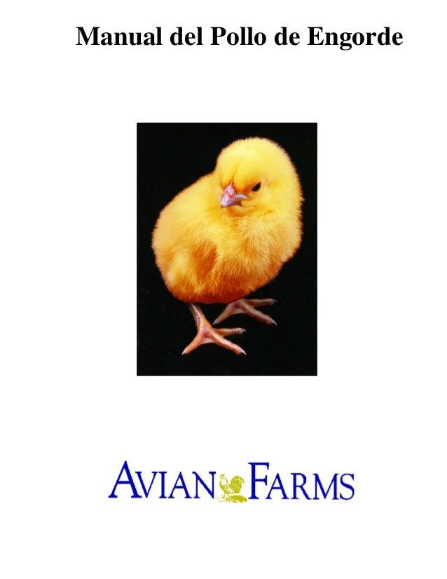 Manual del Pollo de Engorde