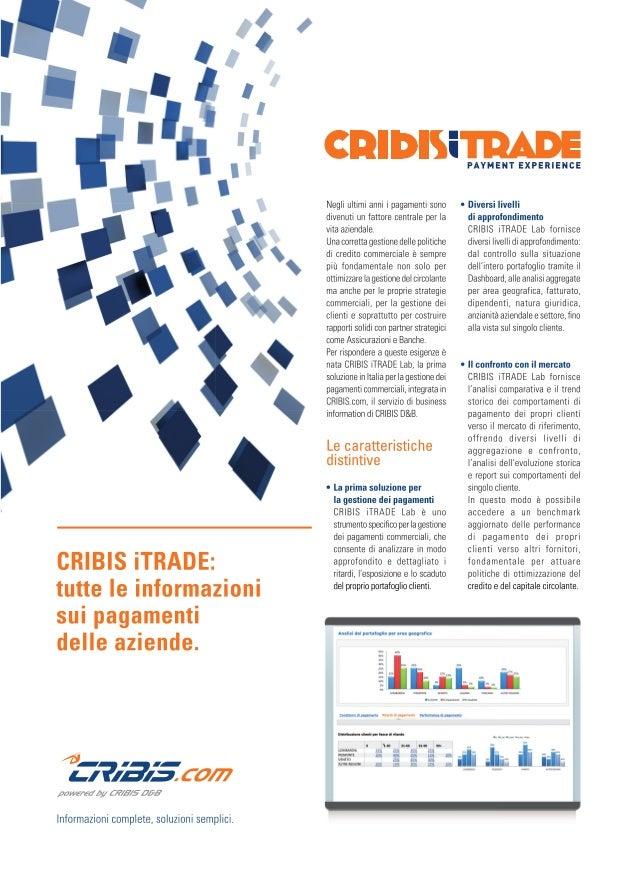 I Nostri Prodotti: CRIBIS iTRADE