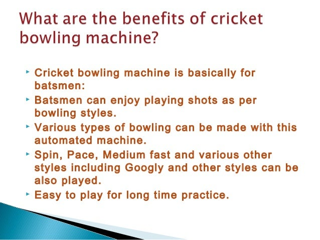 Cricket Bowling Style Cricket Bowling Machine is