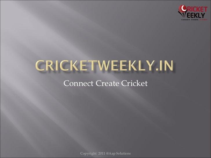 Cricketweekly business plan