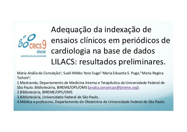 Adequação da indexação de ensaios clínicos em periódicos de cardiologia na base de dados LILACS