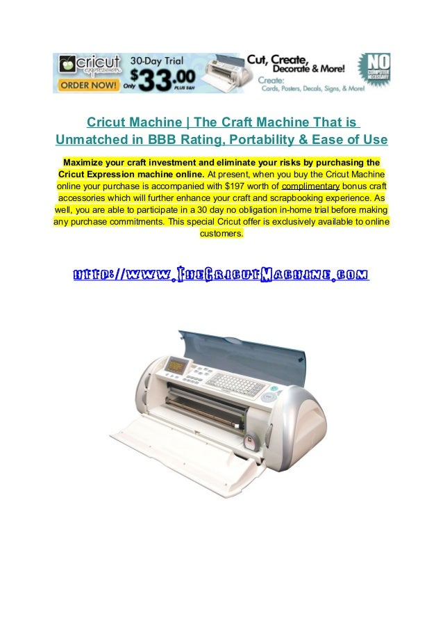 Cricut Machine | The Craft Machine That is Unmatched in BBB Rating, Portability & Ease of Use Maximize your craft investme...