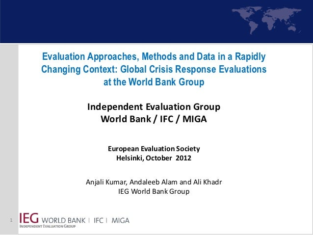 Evaluation Approaches, Methods and Data in a Rapidly    Changing Context: Global Crisis Response Evaluations              ...