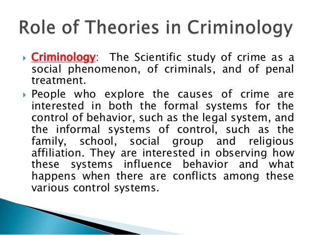 criminology case study