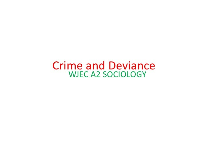 "deviance crime essay Free essay: social deviance is a very broad term, which describes actions or behaviors that violate social ""norms"" norms, in a simple context, are rules by."