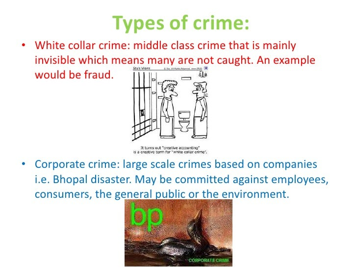 white collar crimes essays Moral ambiguity in white collar criminal law there have been few systematic attempts to explain exactly how or why it occurs 7 this essay offers a preliminary attempt at doing so part a offers several specific examples- essentially, torn from the day's headlines-of what i mean by moral ambi.